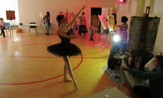 Ballet meets Life Drawing Class