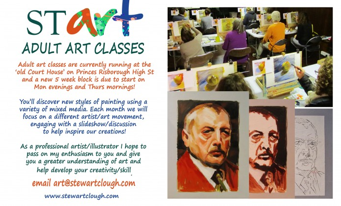 Adult Art Classes 2016