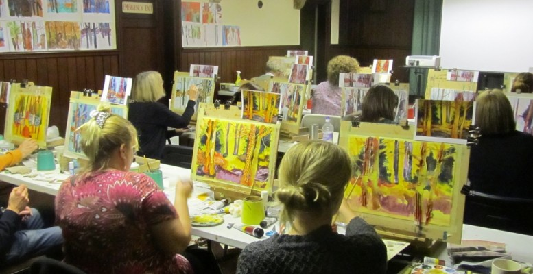 Adult Art Class - Mixed Media Woodlands